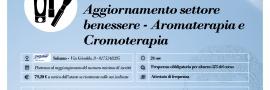 Aggiornamento settore benessere - Aromaterapia e cromoterapia